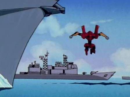 """剧照 即将遭到二号机""""毒手""""的一艘""""提康德罗加""""级巡洋舰"""